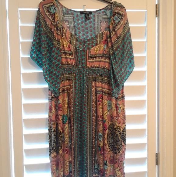 Style Co Plus Size Boho Gypsy Dress Sz 0x Poshmark
